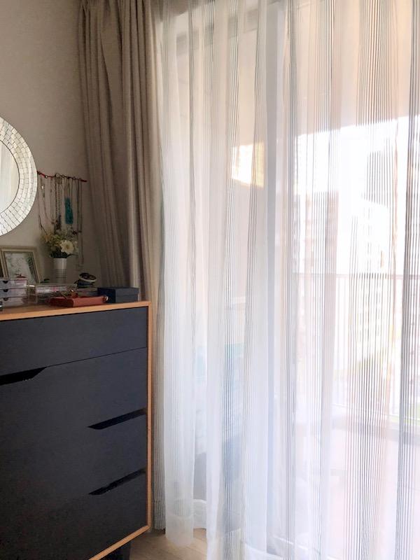 寝室のレースカーテンを新調しました